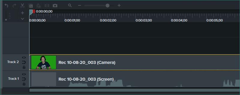 VCam camera recording on Camtasia
